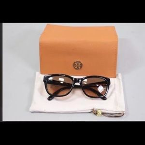 Tory Burch black sunglasses with case